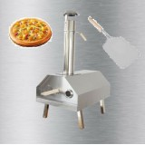 Stainless Pizza Oven Portable Removable Chimney Folding Legs Wood Pellets + Free Pizza Peel