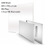 Infrared IR Carbon Crystal Heating Panel 1200 x 1000mm 1200W UK Plug